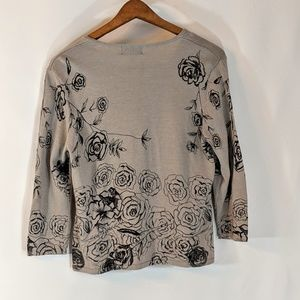 Style & Co Tops - Pretty Casual Flower Print Sweater sz M/P